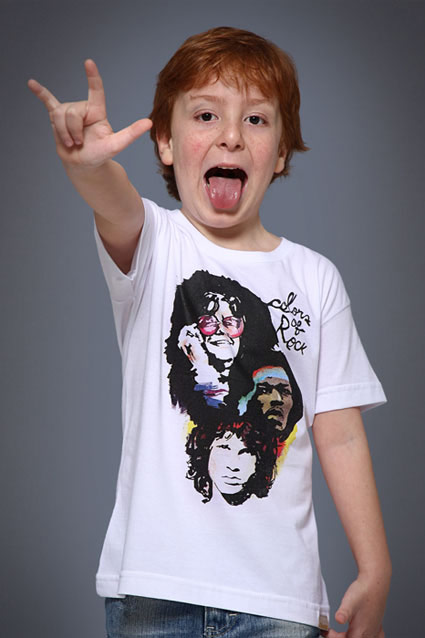 Camiseta Camiseta Infantil Colors of Rock