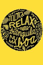 Estampa Camiseta Infantil Relax