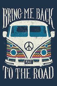 Estampa Camiseta Infantil Back to the Road