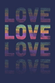 Estampa Camiseta Love Colors