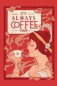 Estampa Camiseta Time to Coffee