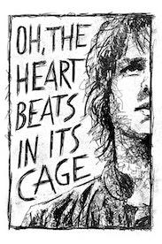 Estampa Camiseta Heart In a Cage