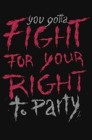 Estampa Camiseta Right To Party