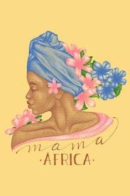 Estampa Camiseta Mama África