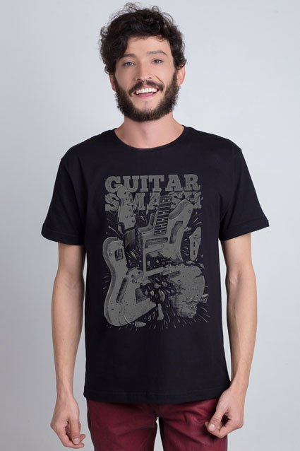 Camiseta Camiseta Guitar Smash
