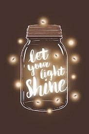 Estampa Camiseta Let It Shine