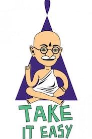 Estampa Camiseta Gandhi Lifestyle