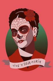 Estampa Camiseta Frida Kahlo