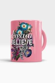 Caneca Dream, Believe, Achieve