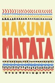 Estampa Manga Longa Hakuna Matata