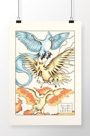 Poster Winged Mirages