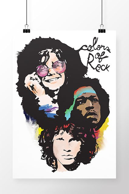Poster Colors of Rock