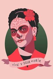 Estampa Regata Frida Kahlo
