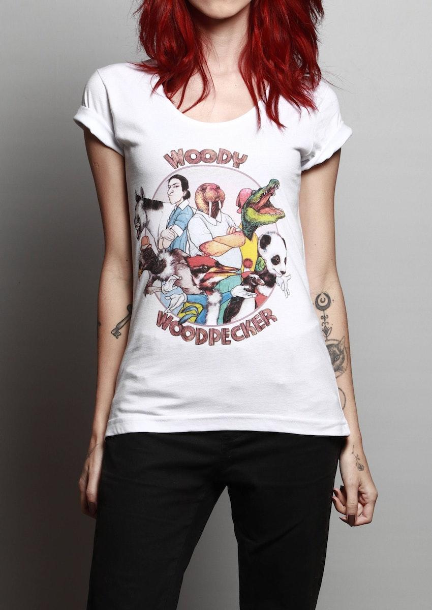 Camiseta Pica Pau Chico Rei