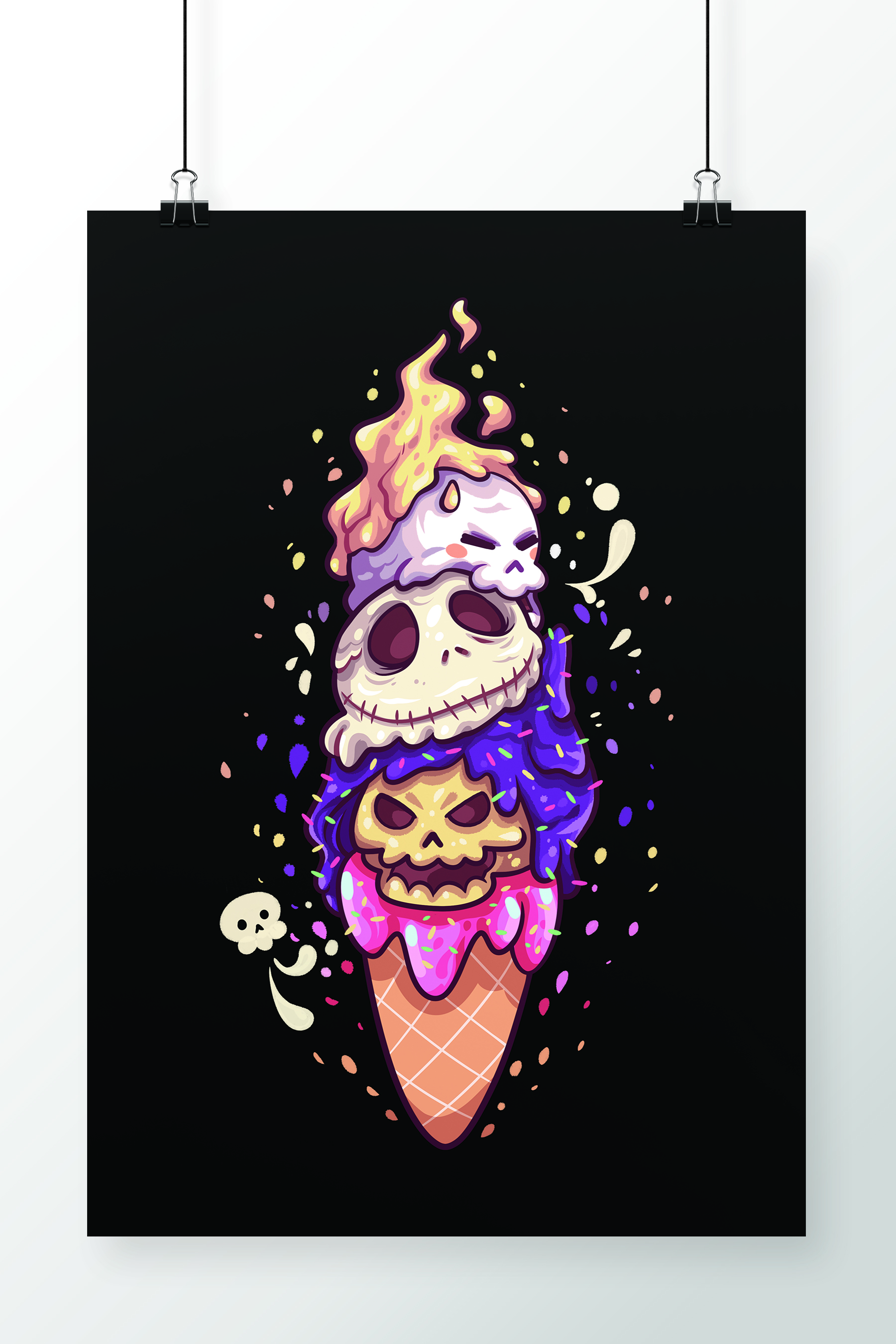 Poster Ice Skulls
