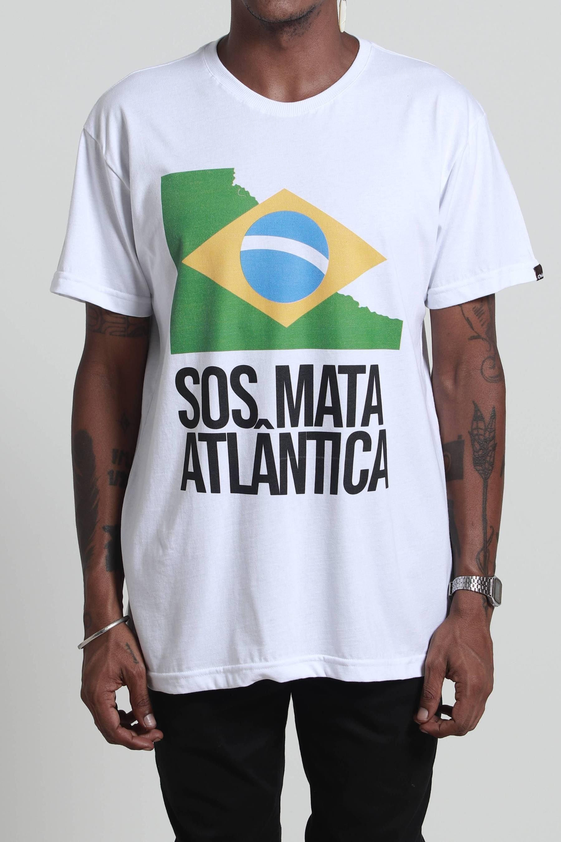 Camiseta SOS Mata Atlântica Branca
