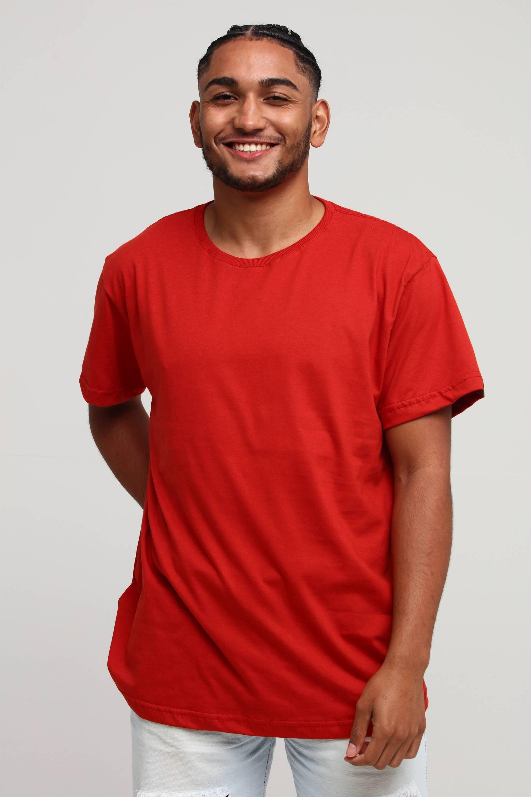 Camiseta Básica Vermelho Framboesa