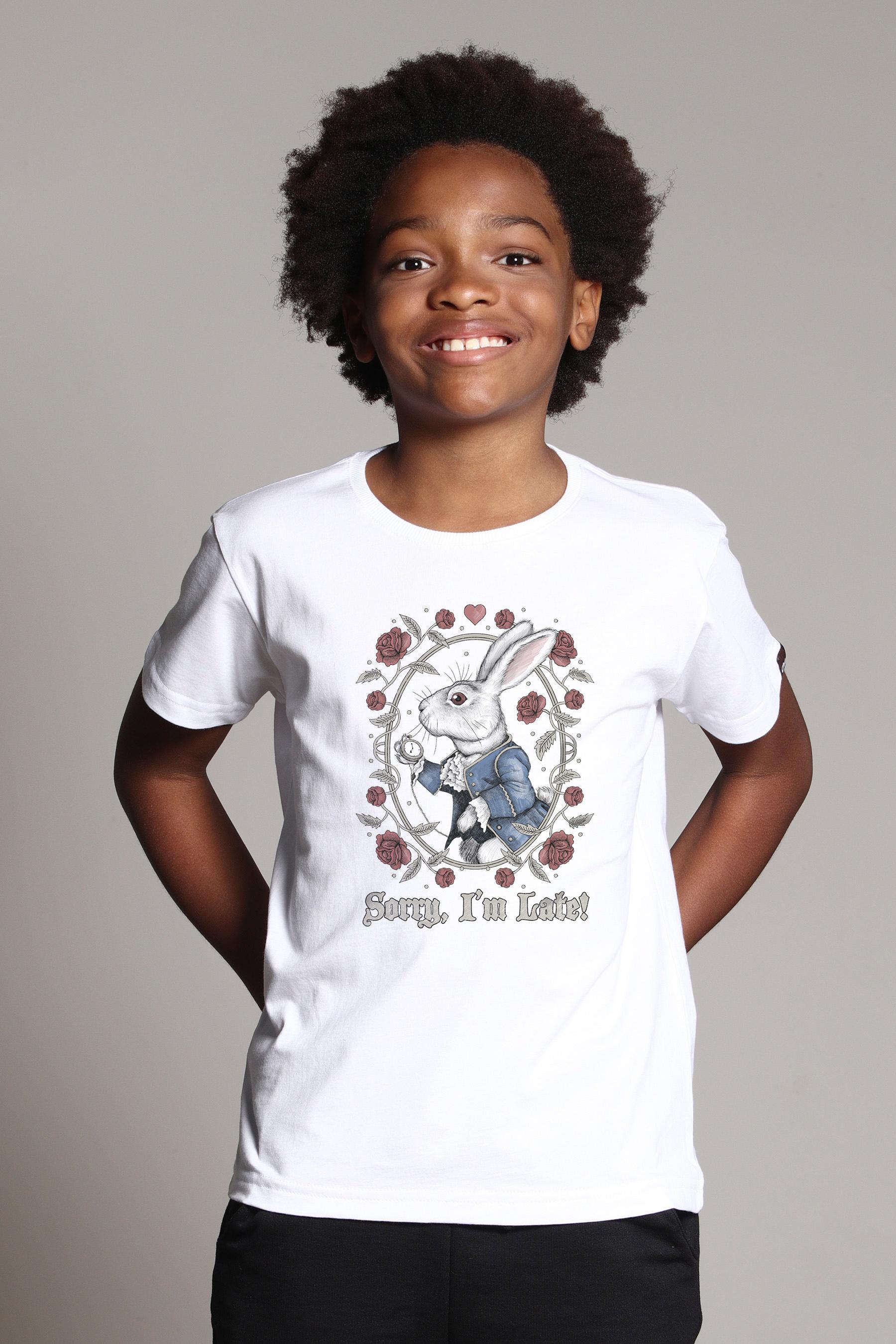 Camiseta Infantil White Rabbit