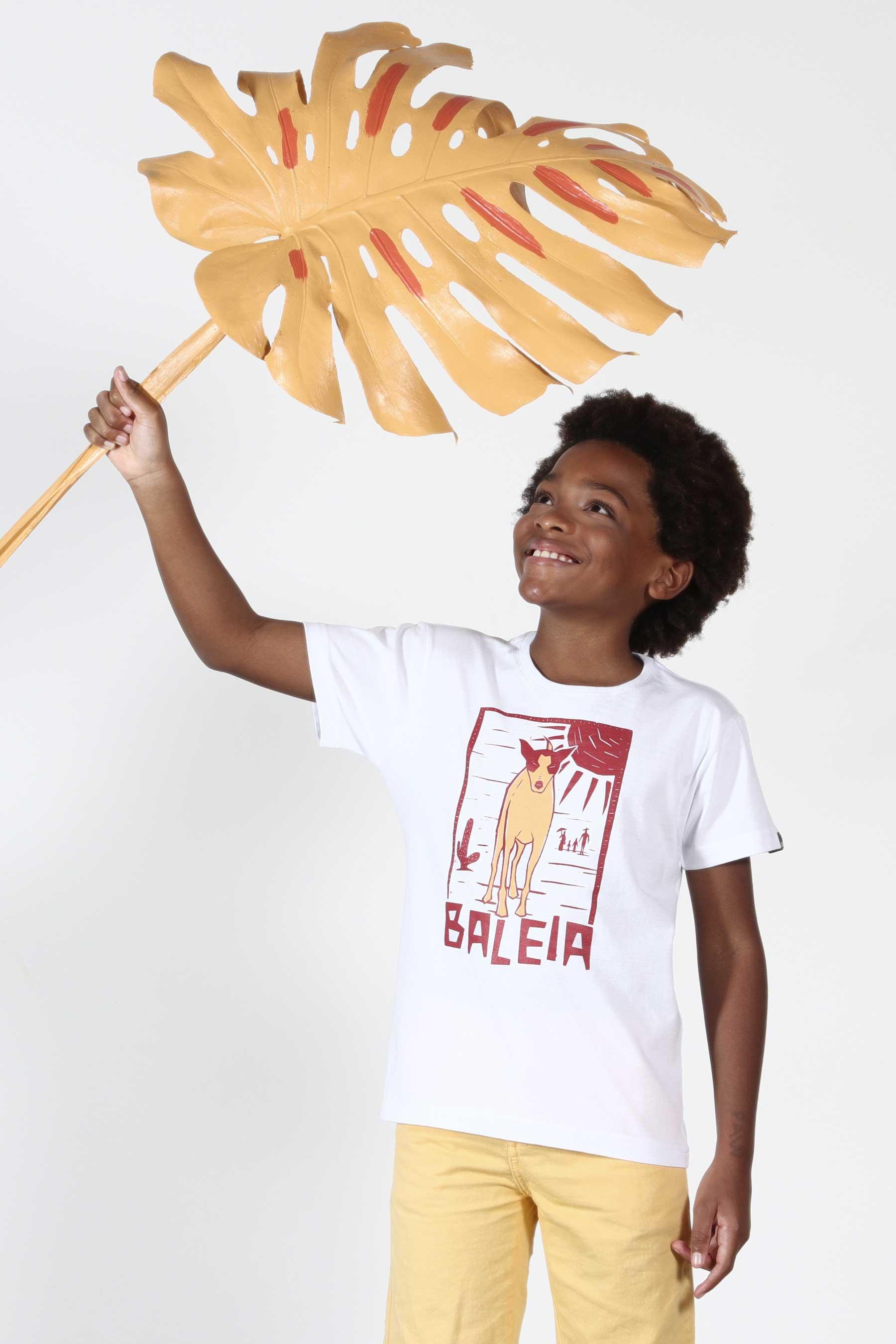 Camiseta Infantil Baleia