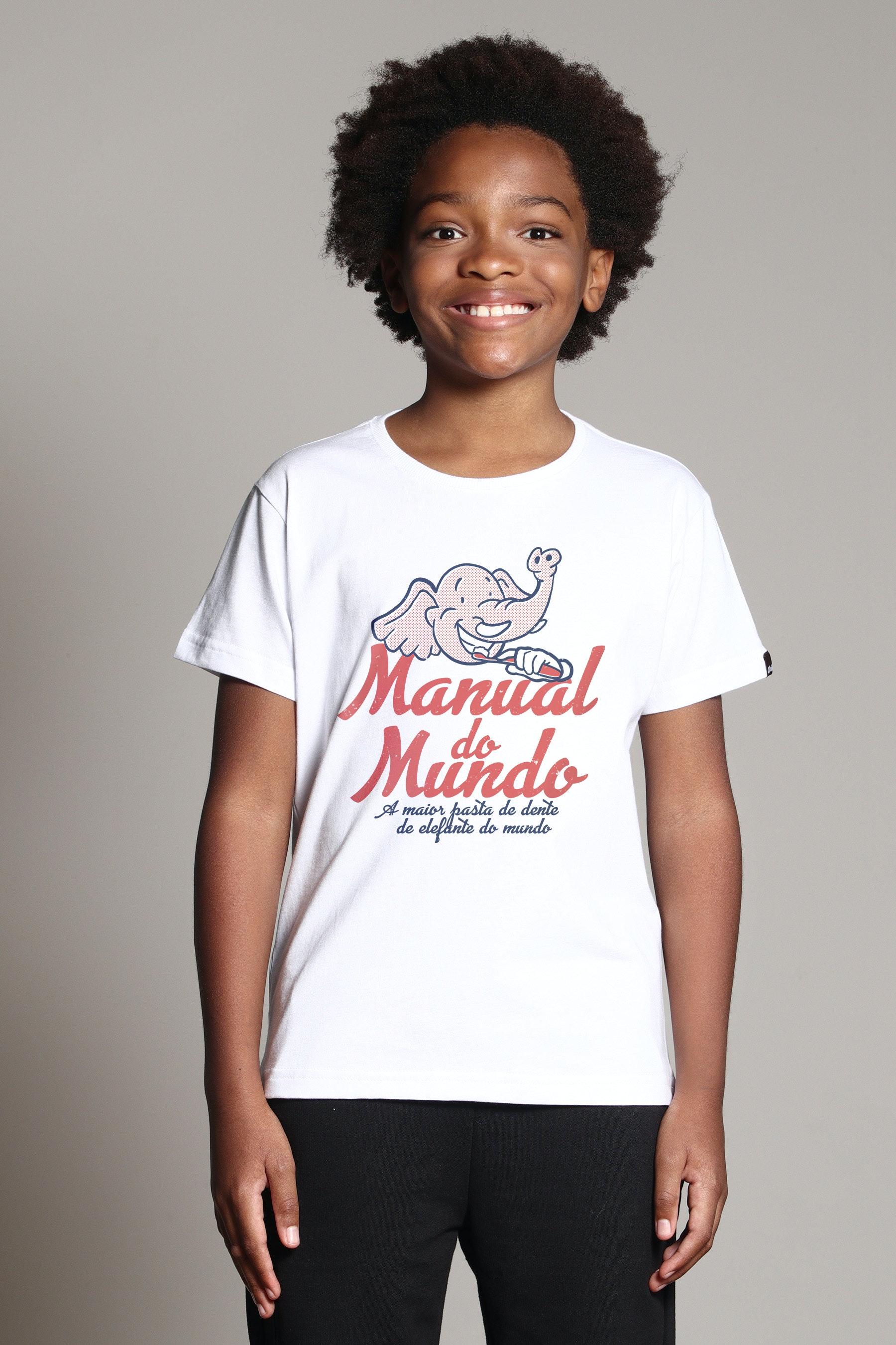 Camiseta Infantil Pasta De Dente De Elefante