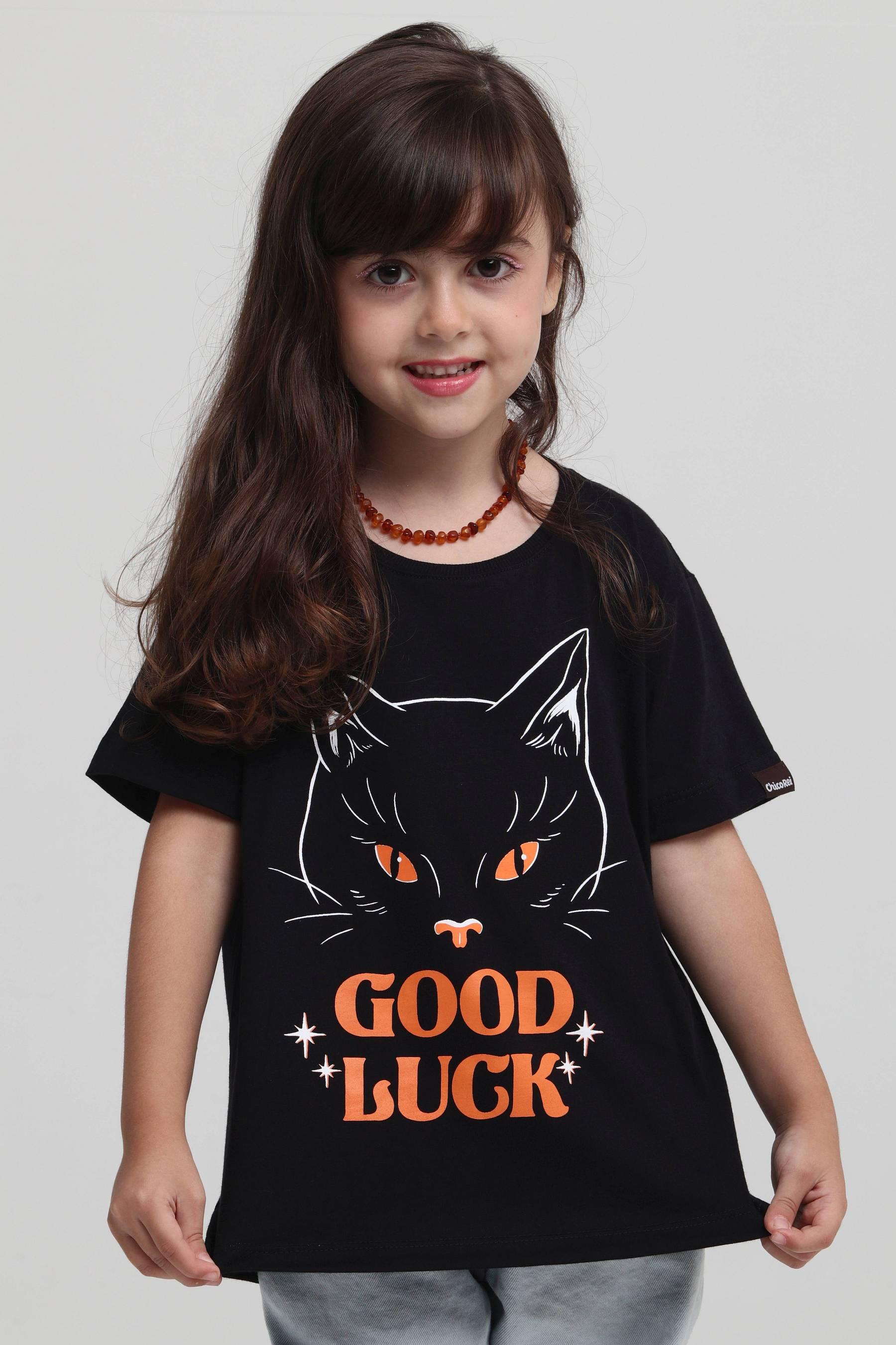 Camiseta Infantil Good Luck Cat