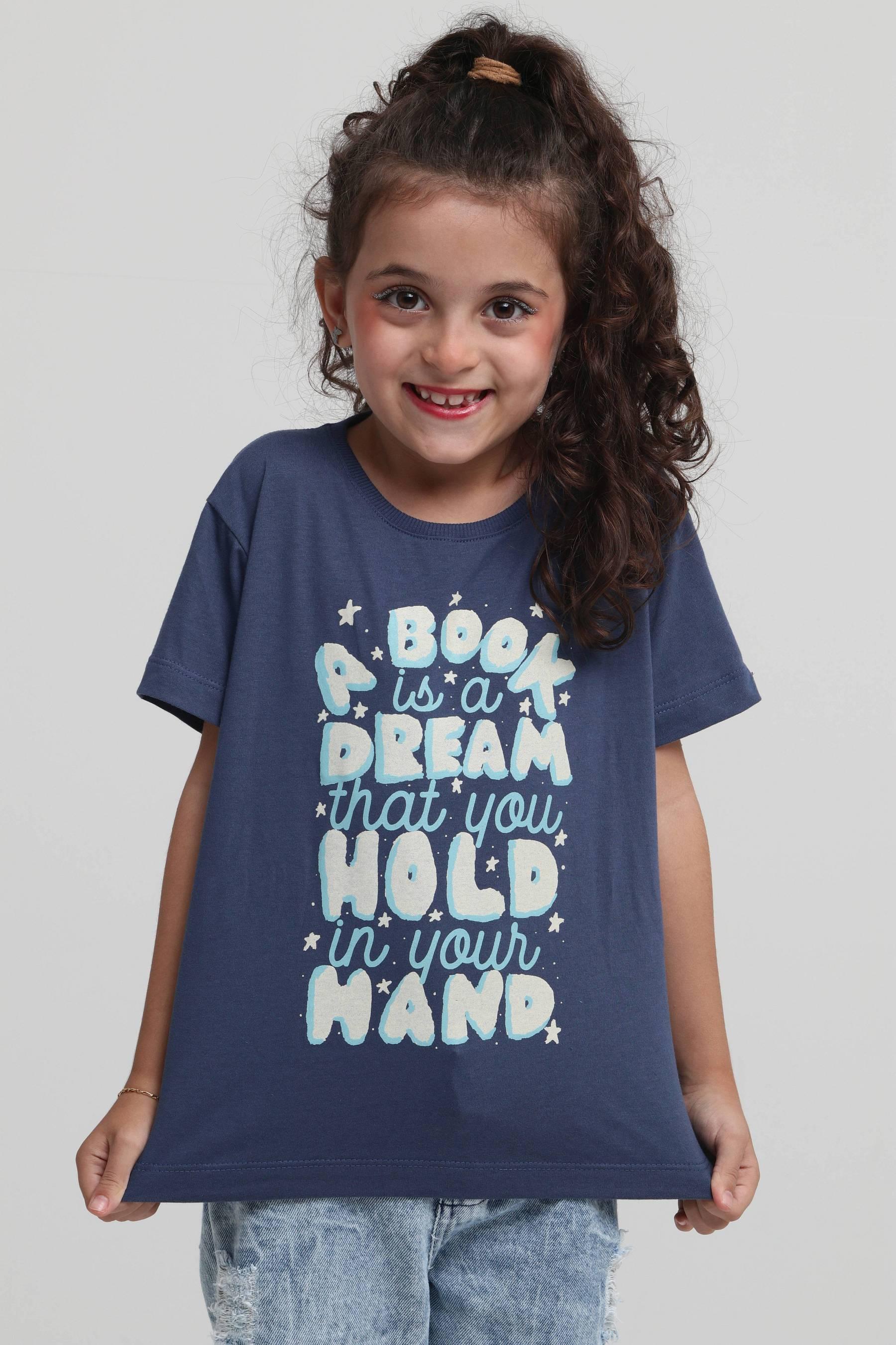 Camiseta Infantil A Book Is A Dream