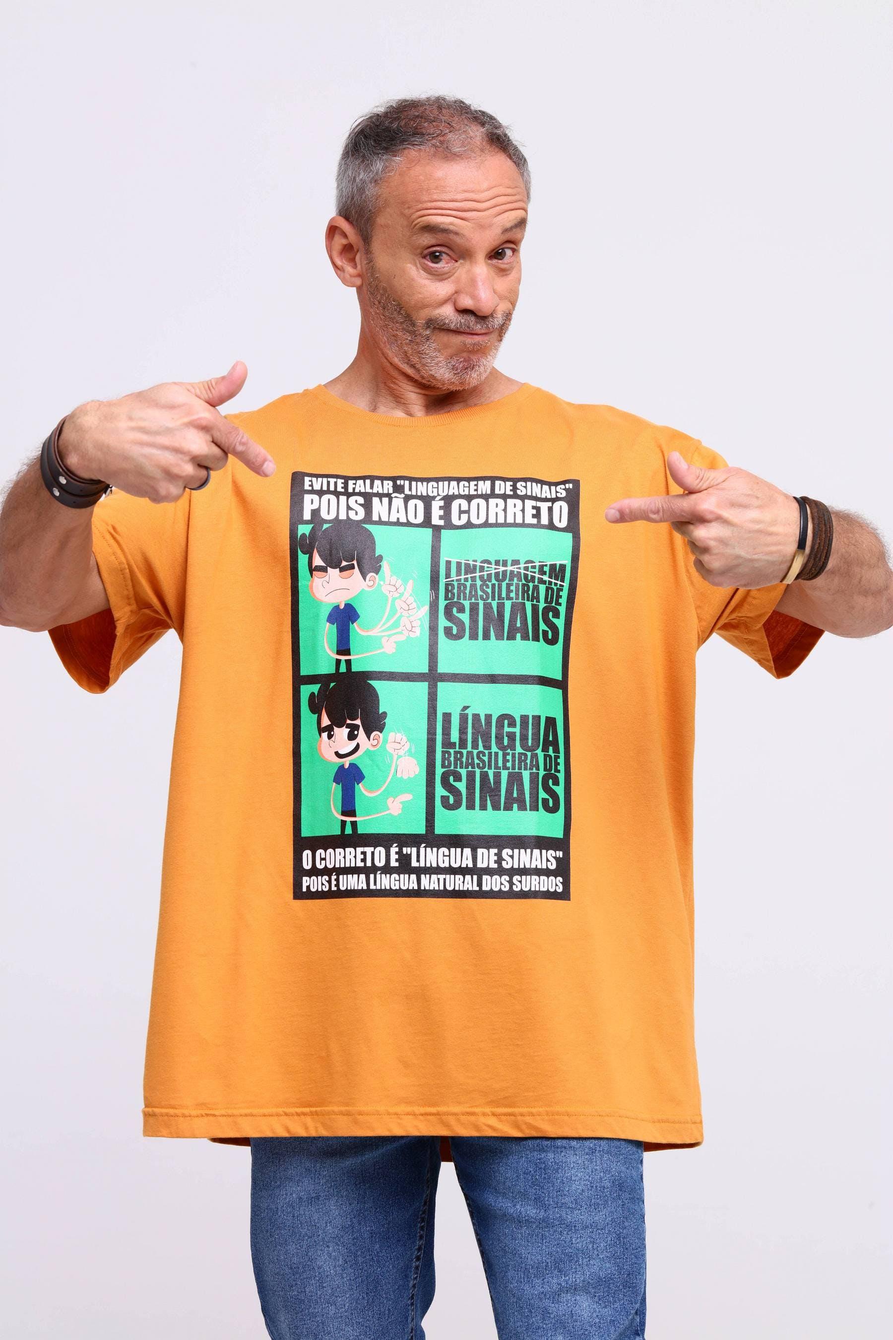Camiseta Língua de Sinais