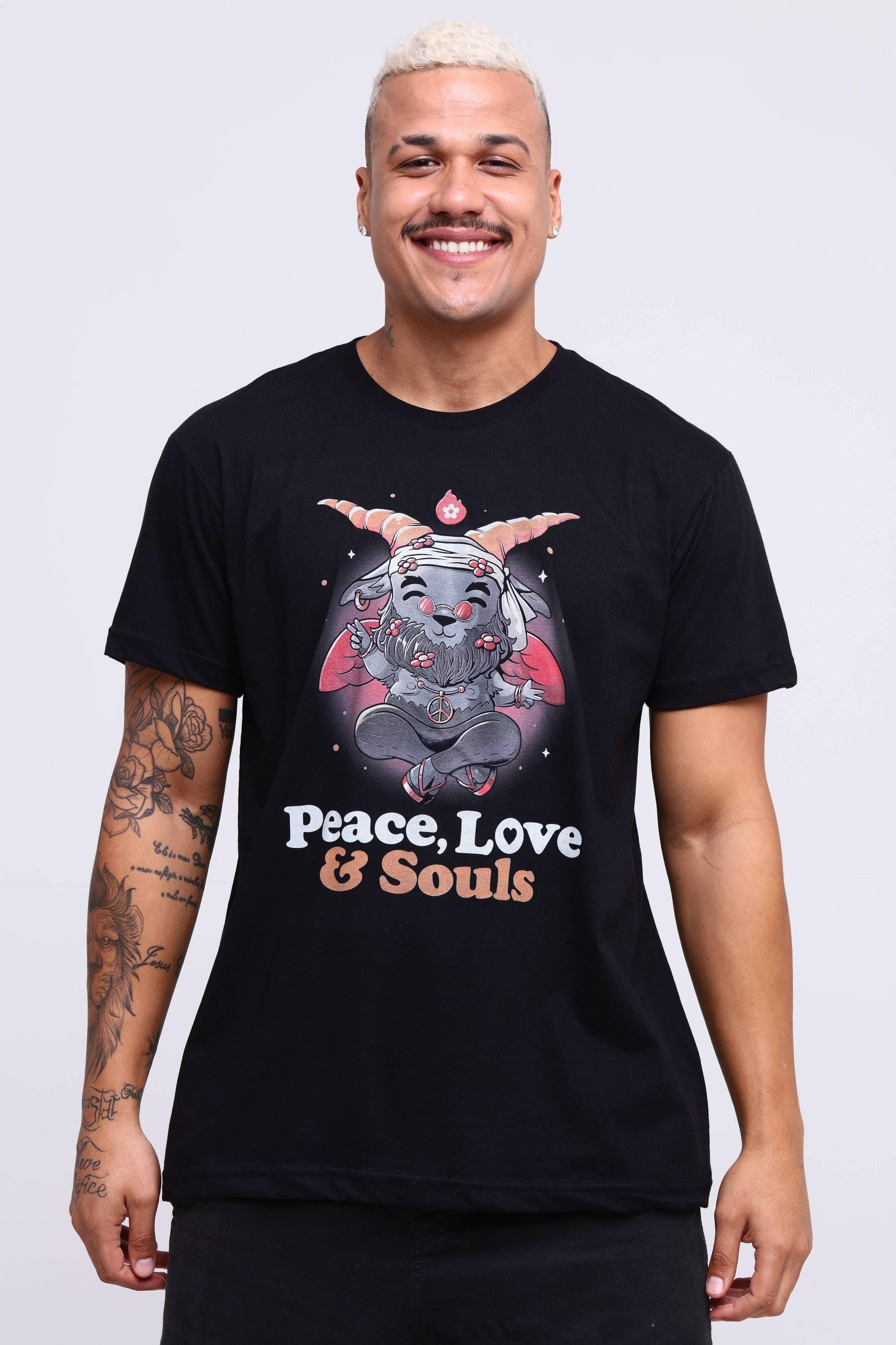 Camiseta Peace, Love & Souls