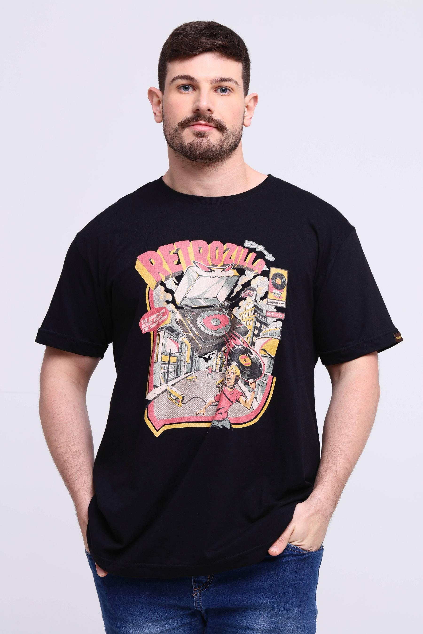 Camiseta Retro Soundzilla Black