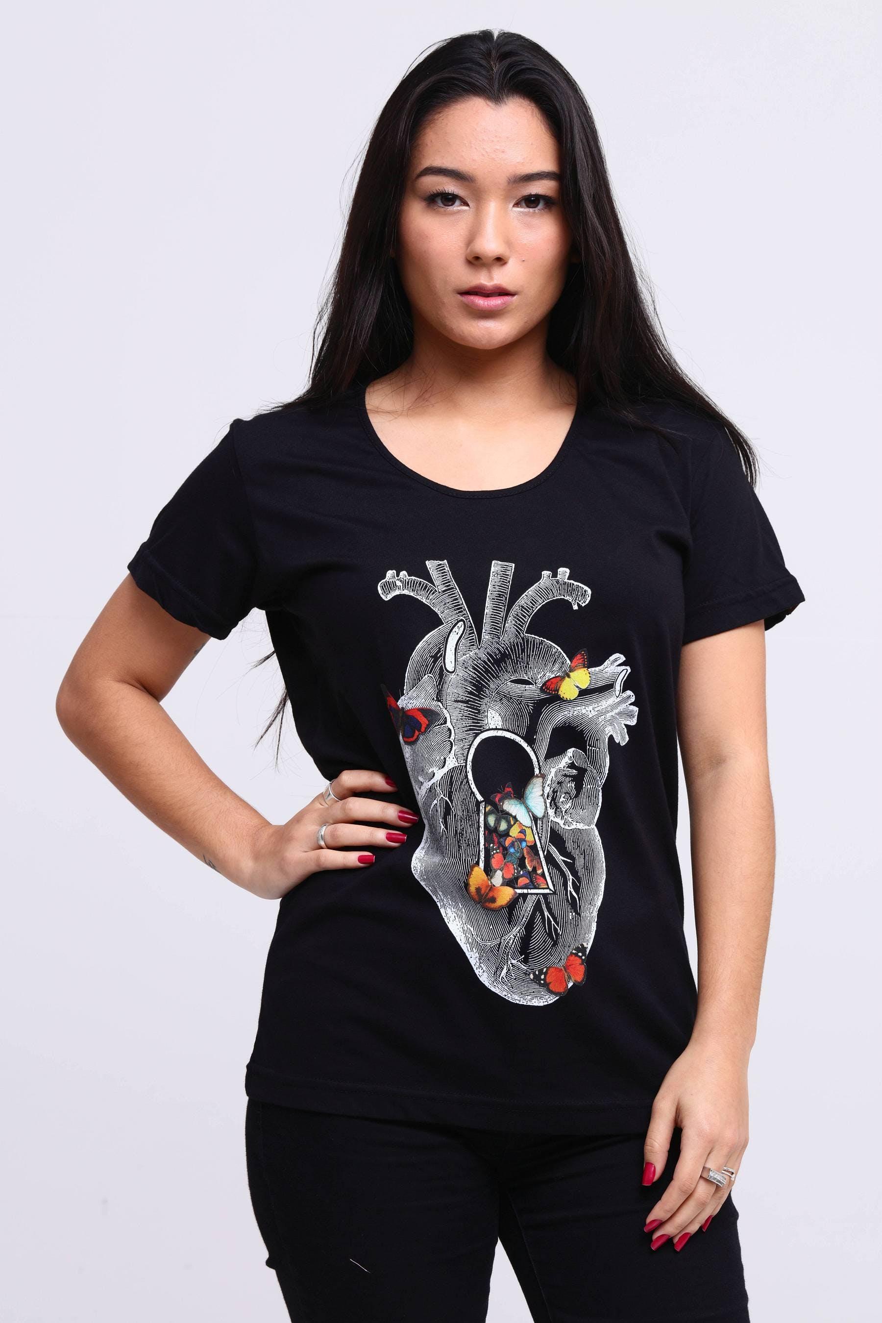 Camiseta Heart Spring Butterfly