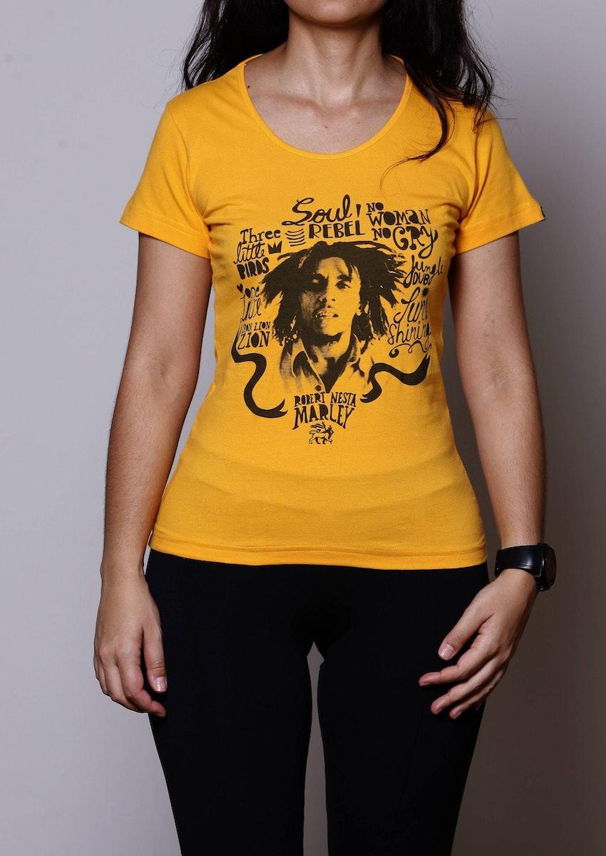 nuevo estilo de Super descuento fuerte embalaje Camiseta Bob Marley - Chico Rei