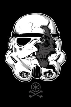Estampa Baby Body Stormtrooper