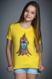 Camiseta Infantil Castelo Coruja