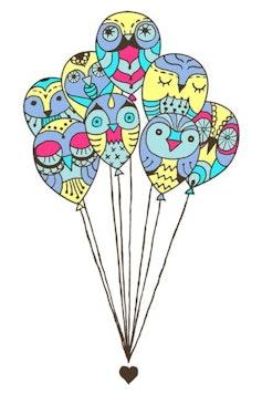 Estampa Camiseta Infantil Balões de Amor