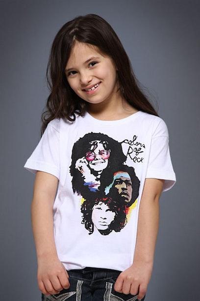 Camiseta Infantil Colors of Rock