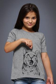 Camiseta Infantil Instinto Felino