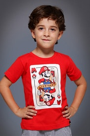 Camiseta Infantil Reino dos Cogumelos
