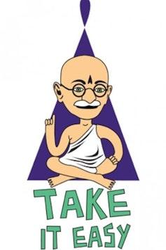 Estampa Camiseta Infantil Gandhi Lifestyle