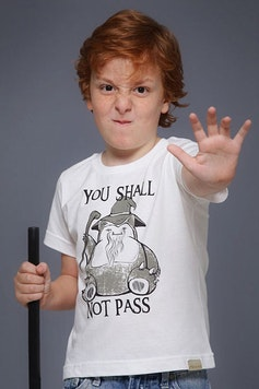Camiseta Infantil You Shall Not Pass