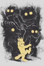 Estampa Camiseta Infantil Onde Vivem os Monstros