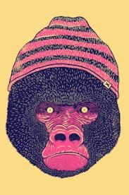 Estampa Camiseta Infantil Gorila