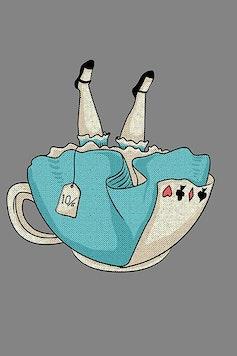 Estampa Camiseta Infantil Alice