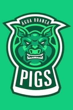 Estampa Camiseta Infantil Pigs