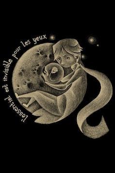Estampa Camiseta Infantil Le Petit Prince