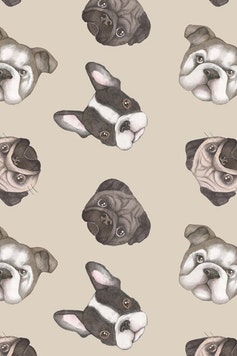 Estampa Camiseta Infantil Dogs