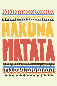 Estampa Camiseta Infantil Hakuna Matata