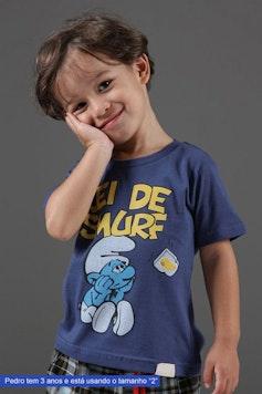 Camiseta Infantil Lei de Smurf