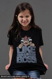 Camiseta Infantil Like a Boss