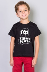 Camiseta Infantil Save the Rock