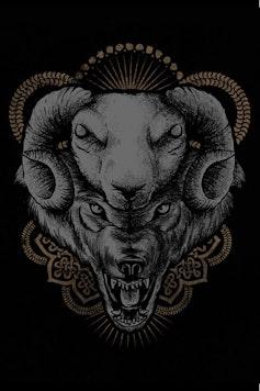 Estampa Camiseta Lobo e Cordeiro